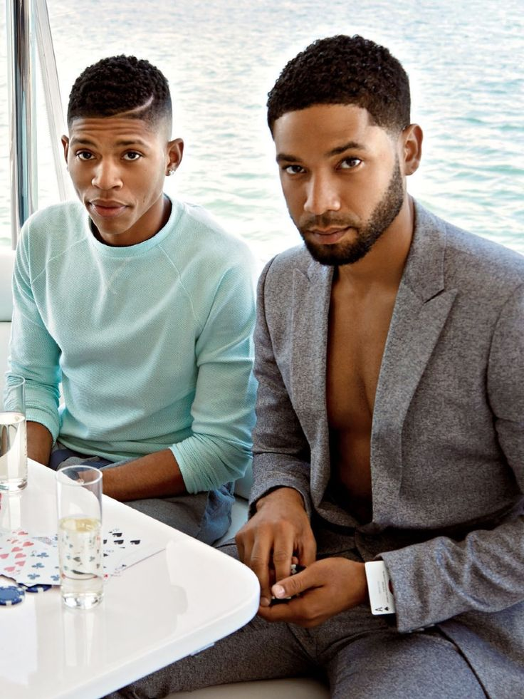 soph-okonedo:  Bryshere Y. Gray and Jussie Smollett in 'ESSENCE' Magazine June 2015