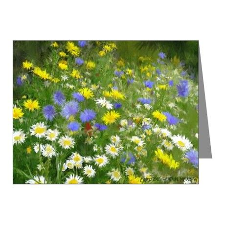 notecards from my illustration of a meadow of flowers