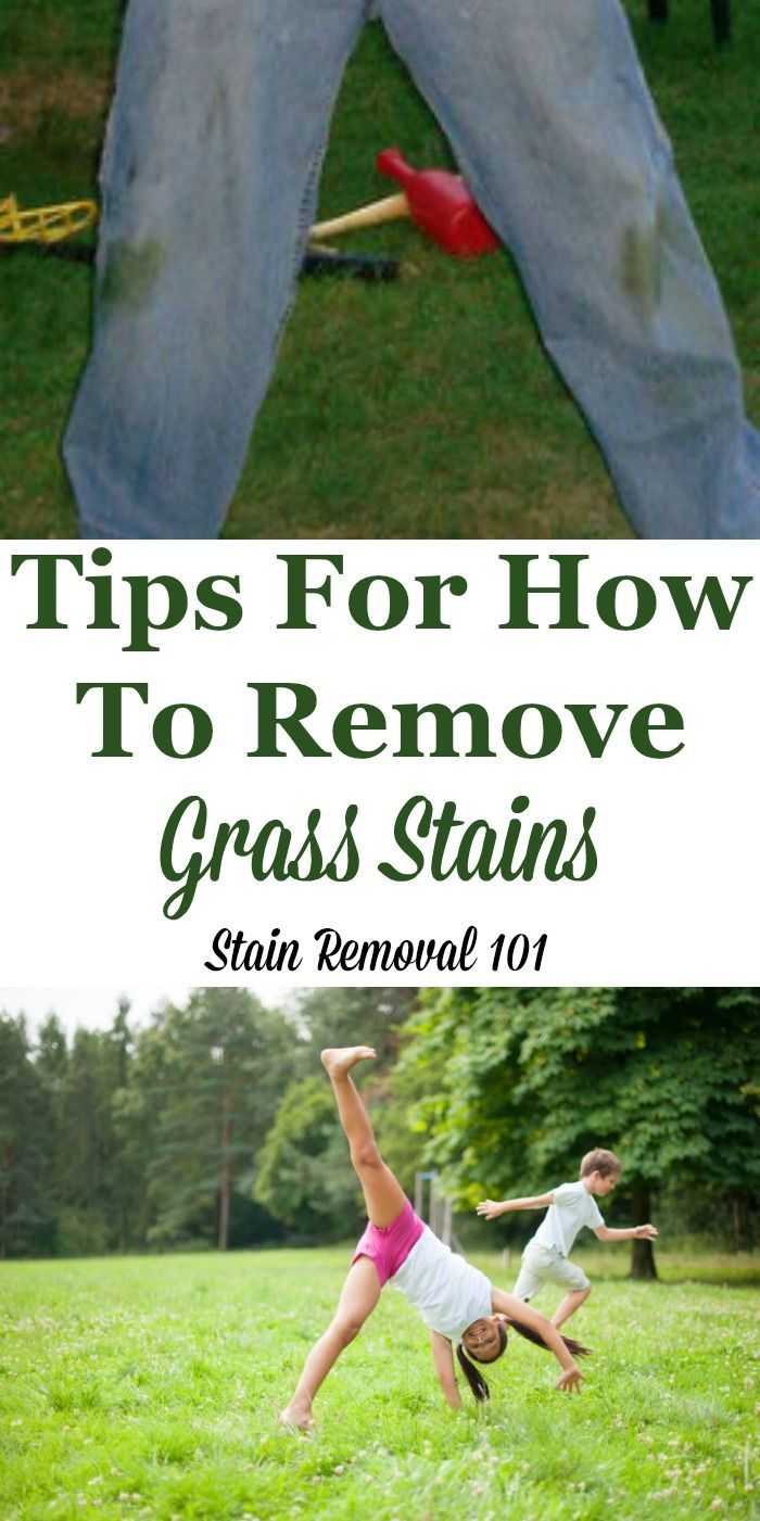 How To Remove Grass Stains Tips And Hints Grass Stain Remover Grass Stains How To Remove Grass