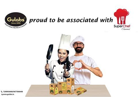 #Gulabs is proud to be partnered with SuperChef Chennai 2016 as one of the ingredient partners!  SUPERCHEF is a two day, high profile, LIVE competitive cook off for amateur chefs in Chennai. Season 4 dates - Feb 27-28, 2016 at The Park Hotels.