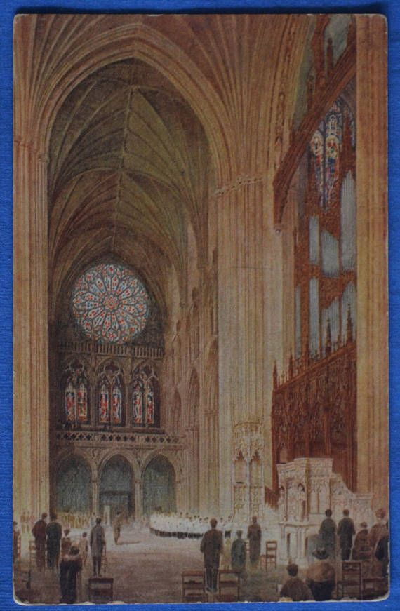 Architect's Drawing Interior North Transept Cathedral