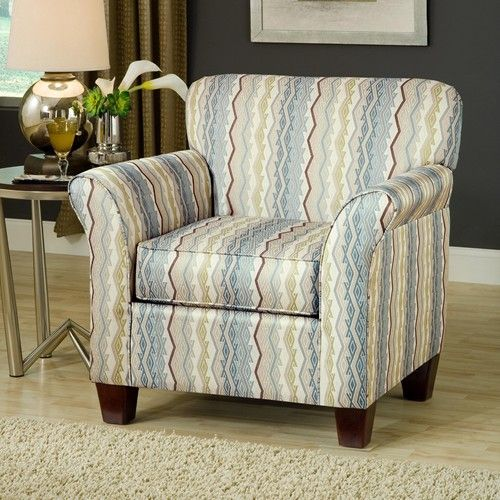 Belfort Essentials Addison 8400 Upholstered Accent Chair With Espresso  Tapered Wood Legs   Belfort Furniture