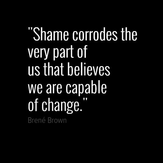 relationship between shame and courage