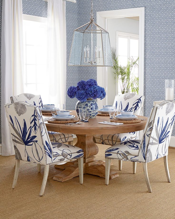 Massoud Allison Botanical Chair & Taylor Pedestal Table