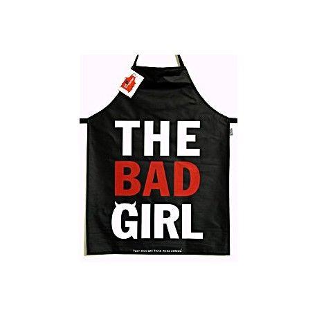 """Keukenschort """"The Bad Girl""""  Met dit keukenschort om maak je meer dan alleen een statement dat je lekker kan koken The Bad Girl.  #Keuken Gadgets"""