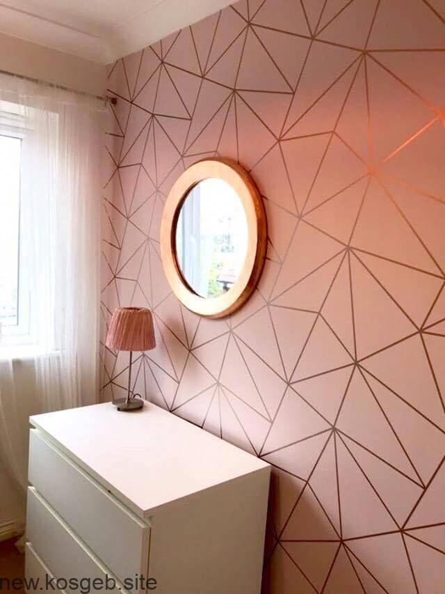 Zara Shimmer Metallic Tapete Rosa Rosegold Ilw980111 Awesomebedroom Gold Room Decor Gold Wallpaper Living Room Rose Gold Bedroom