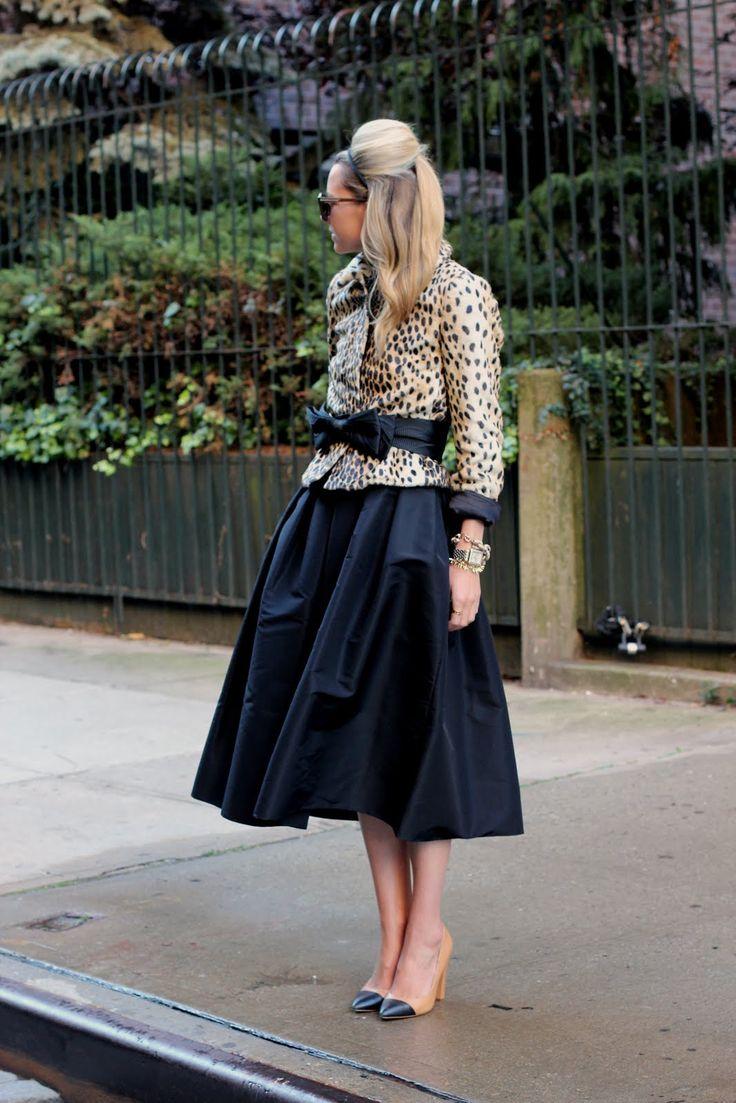 Atlantic-Pacific: fancy    Skirt: Tibi. Jacket: Malene Birger. Shoes: Zara. Bow Belt: From a Milly Dress. Sunglasses: Karen Walker. Jewelry: David Yurman, Michele watch c/o, Jcrew.