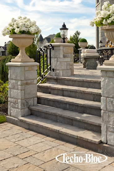 Stone Columns For Driveways : The stone pillars of chateau evoke a gated fortress