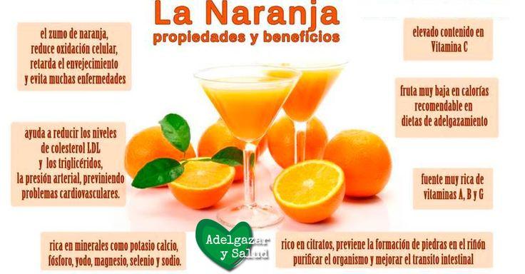 Conoce las propiedades y beneficios de la #naranja #alimentos