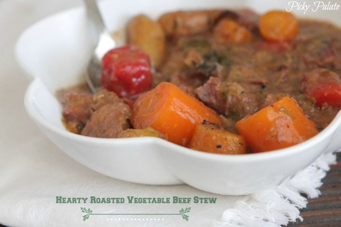 Hearty Roasted Vegetable Beef Stew   Slow Cooker Recipes.  Perfect for these cold winter months!