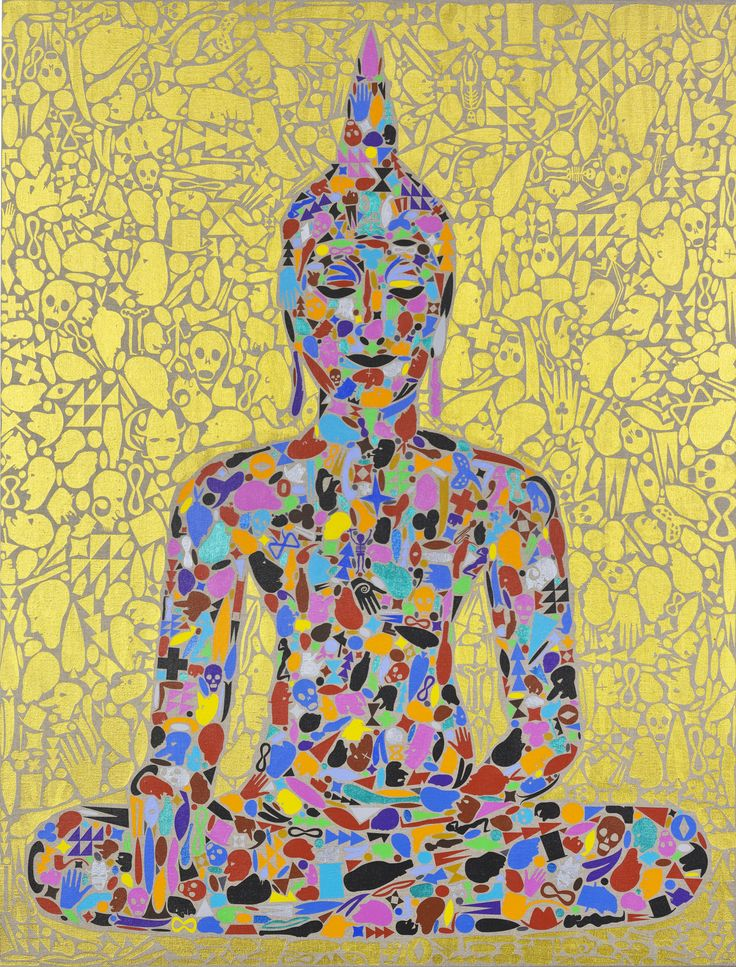"Plum Blossoms Artist: Chris Heaphy; Acrylic on Linen, 2008, Painting ""Enlighten"""