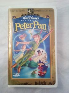 Peter-Pan-45th-Anniversary-VHS-Limited-Edition-USED