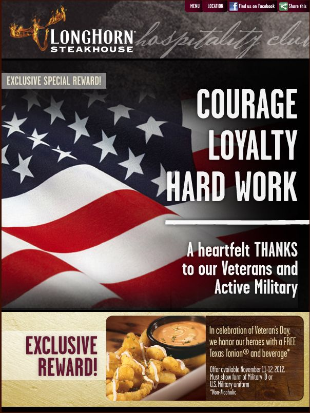 Coupon longhorn steakhouse free appetizer