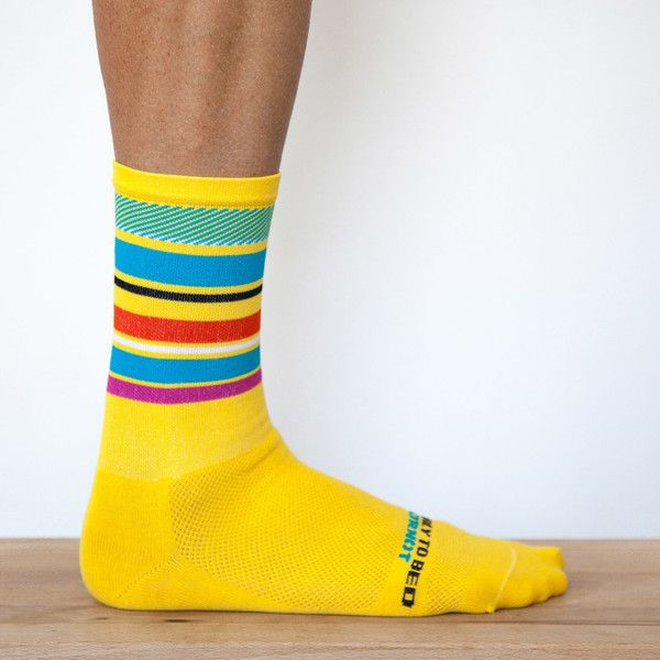 Ornot Yellow Pavé Road Socks