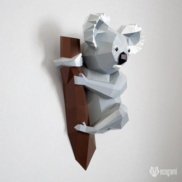 Origami Koala (Yoshihide Momotani) - Paper Folding / Papier Falten ...   600x600