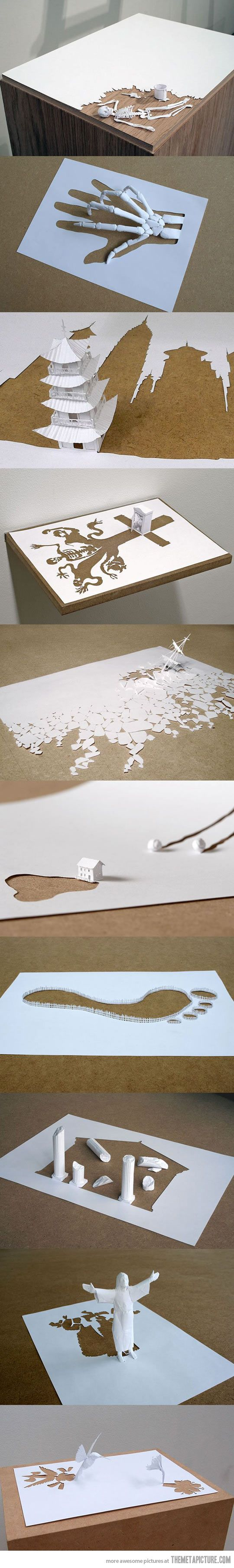 Amazing paper art by Peter Callesen… stupid people and there amazing paper cutting/folding talents -.-
