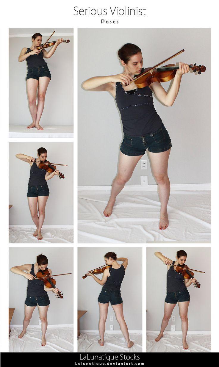 STOCK - Serious Violinist by LaLunatique.deviantart.com on @DeviantArt