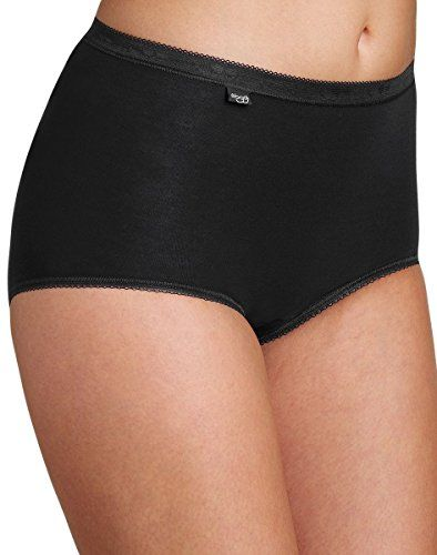Sloggi Basic Maxi 8 Pack High Rise Women's Briefs Color Black