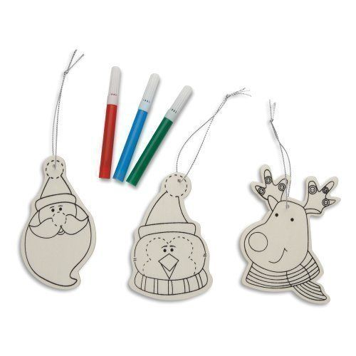Decorate Your Own Wooden Christmas Decoration - Paint / Colour Bauble Craft Set Unknown http://www.amazon.co.uk/dp/B00FQIVRDA/ref=cm_sw_r_pi_dp_il9-vb1P460KZ