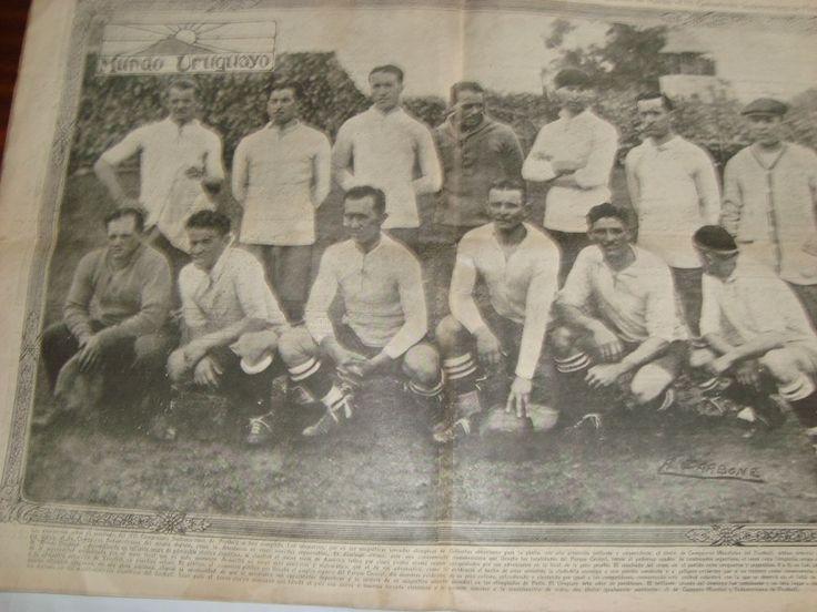 URUGUAY 1924 OLYMPIC SOCCER WORLD CUP VINTAGE ORIGINAL MAGAZINE & POSTER #URUGUAY