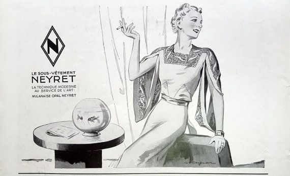 Neyret ad French underwear vintage advertising lingerie by OldMag