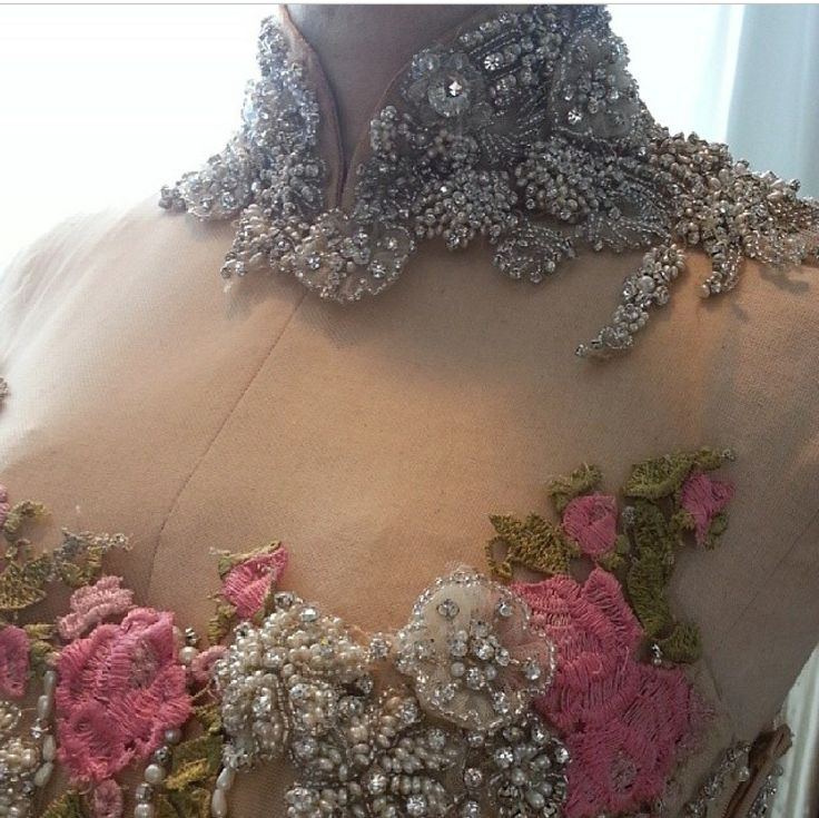 The details embroidery & swarovski