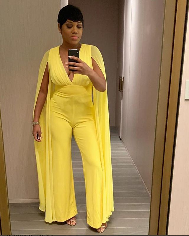 df685031073 Satisfied CUSTOMER  realjayblessed ! She looks AMAZING wearing our  SLAY  THE RUNWAY JUMPSUIT - YELLOW (CUSTOM) SHO…