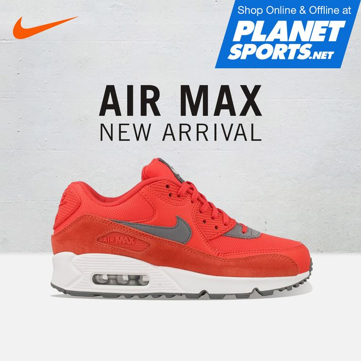 NIKE AIR MAX 90 shoe has been re-designed for casual wear while staying true to its 90s running roots. Max Air unit helps cushion each step while retains its iconic look.