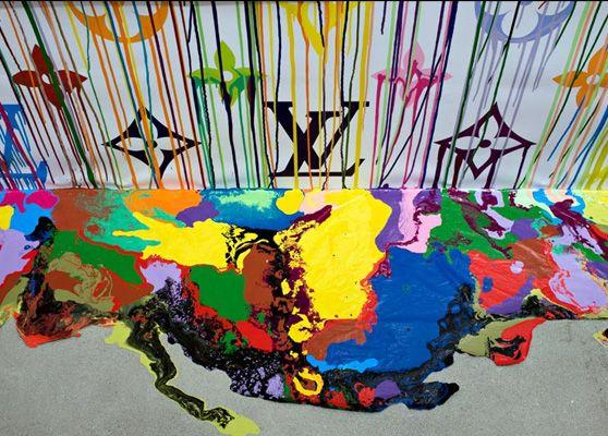 pared con pintura chorreada - Buscar con Google