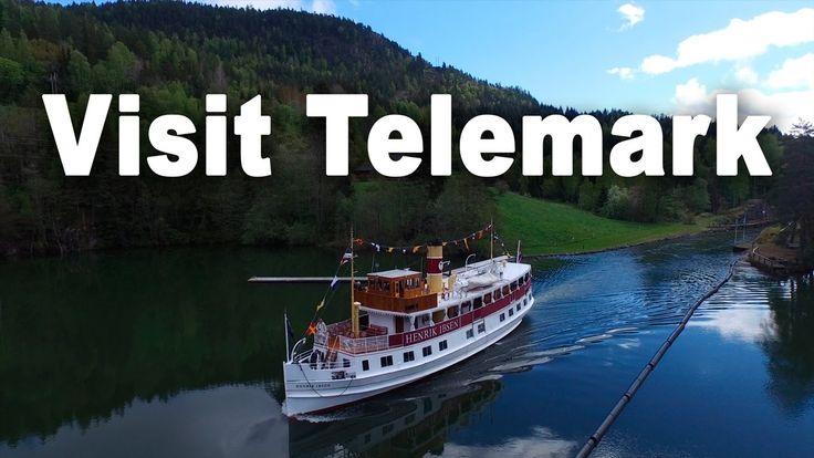 Visit Telemark Canal Norway. Drone filming of MS Henrik Ibsen - Census Film