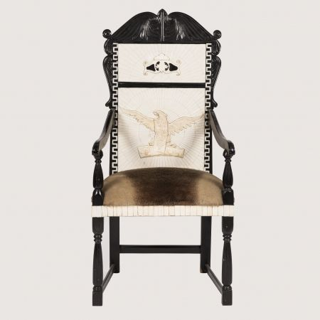 BONE AND EBONY THRONE CHAIR BY ANTHONY REDMILE by Birgit Israel | CHAIRS & UPHOLSTERY in the Showroom Collection