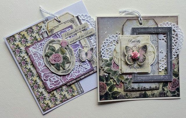 Artdeco Creations Brands: Rambling Rose Card Set by Jo Simons