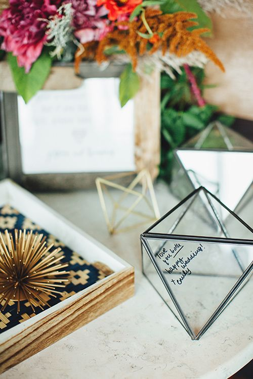 Have guests sign a himmelis fixture instead of a book!   @firstmatephoto   Brides.com