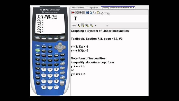 Graphing a System of Linear Inequalities on a TI-84