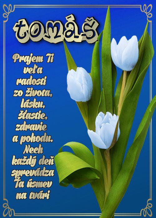 Tomáš Prajem Ti veľa radosti zo života, lásku, šťastie, zdravie a pohodu. Nech každý deň sprevádza Ťa úsmev na tvári