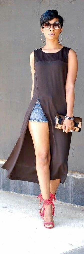 Maxi blusa negra