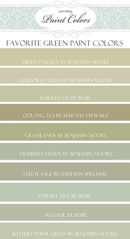 Favorite Behr Paint Colors