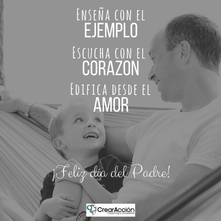 La misión más importante de un Padre consiste en educar seres humanos que logren confiar en si mismos, que valoren y respeten al otro y actúen responsablemente para hacer de este mundo un lugar de paz y amor.
