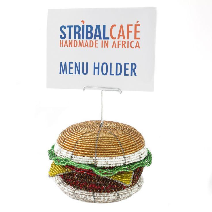 Burger Menu Holder | Stribal CafeStribal Cafe