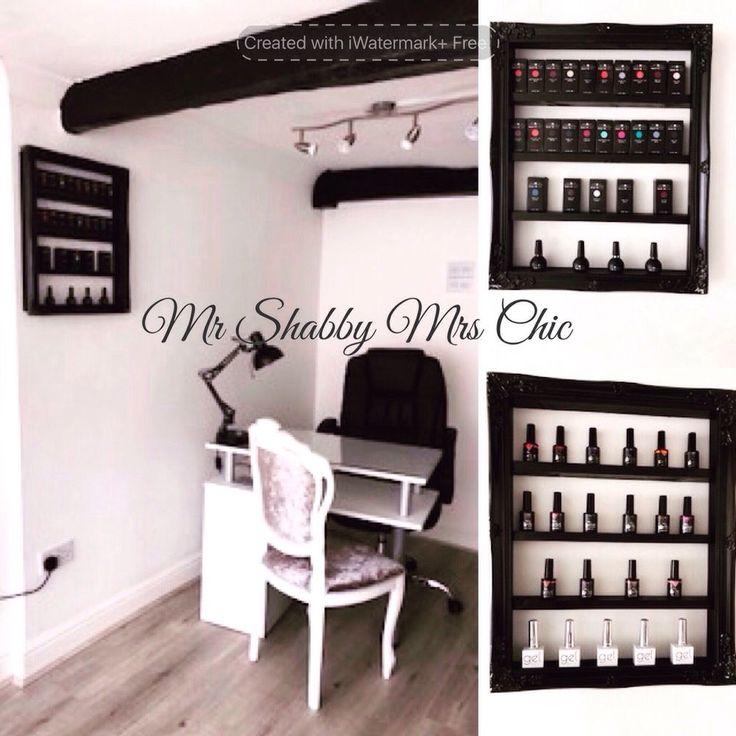 Wall Mounted Nail Polish Rack Organizer Display Holder Shelf salon storage  | eBay