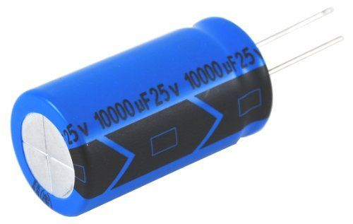 NTE Electronics NEV2200M25FH Series NEV Aluminum Electrolytic Capacitor, 20% Capacitance Tolerance, Radial Lead, 2200آµF Capacitance, 25V Voltage