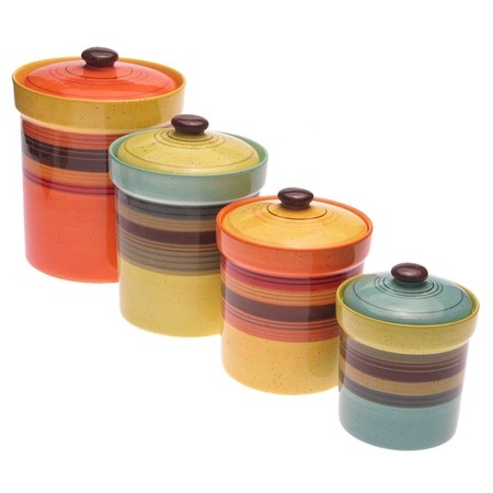 I pinned this 4 Piece Sedona Canister Set from the Cozy Breakfast Nook event at Joss & Main!