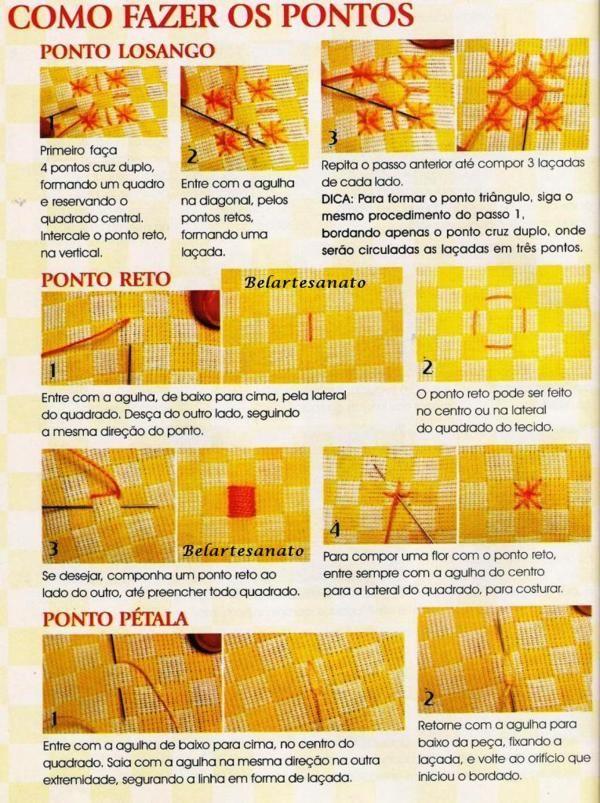 Bordado Passo a Passo: Como bordar em tecido xadres com Avesso Perfeito