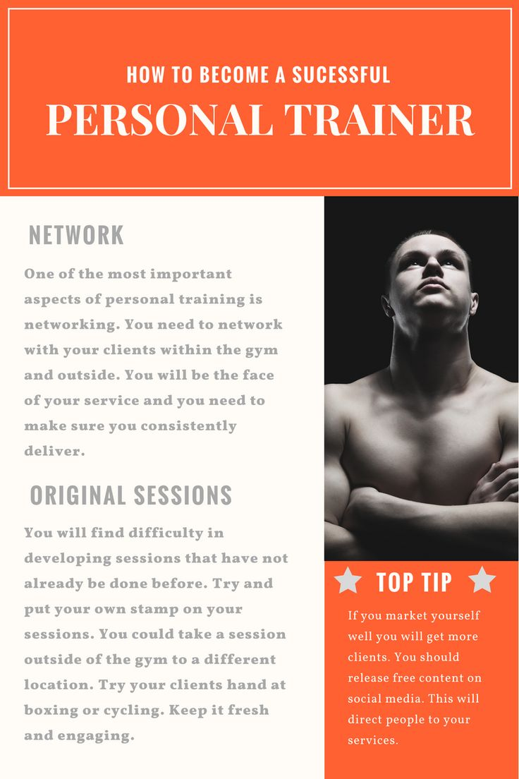 How to be a successful personal trainer.  Market yourself.