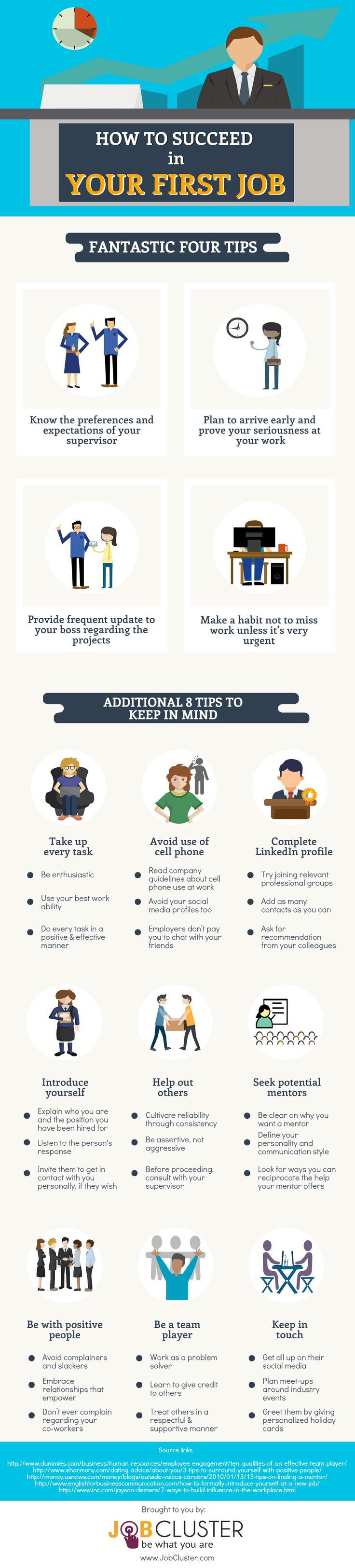 14 Tips For Your First Job  Infographic