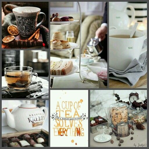 A cup of tea. #moodboard #mosaic #collage #byJeetje♡