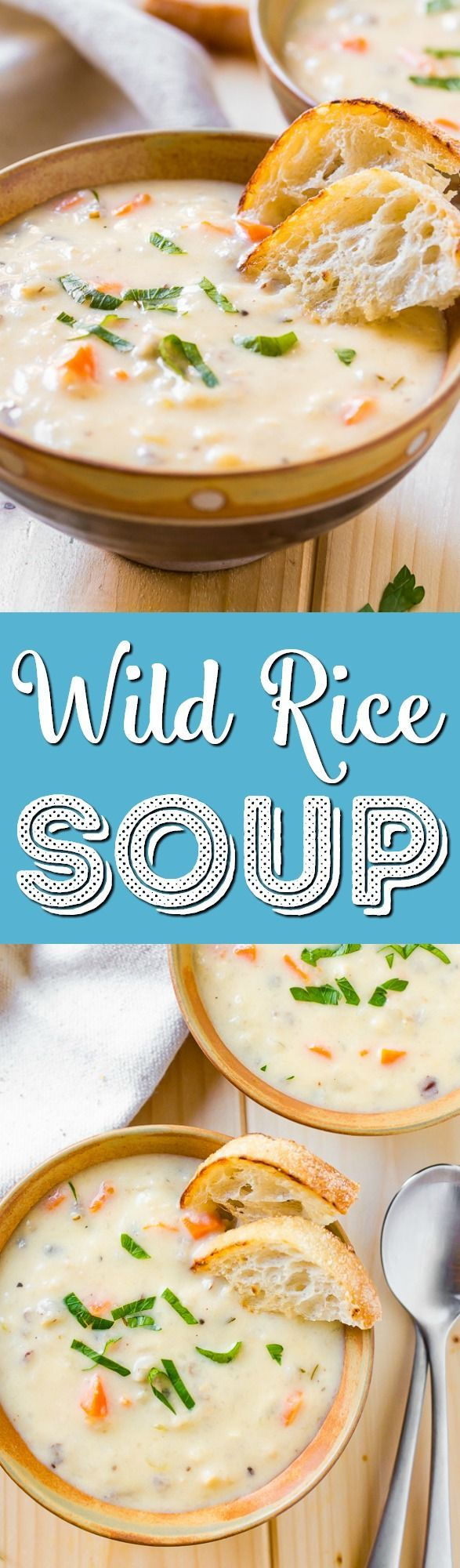 Creamy Wild Rice Soup is the perfect slow cooker soup for cold winter nights and loaded with a wild rice blend fresh, carrots, and celery. via @sugarandsoulco