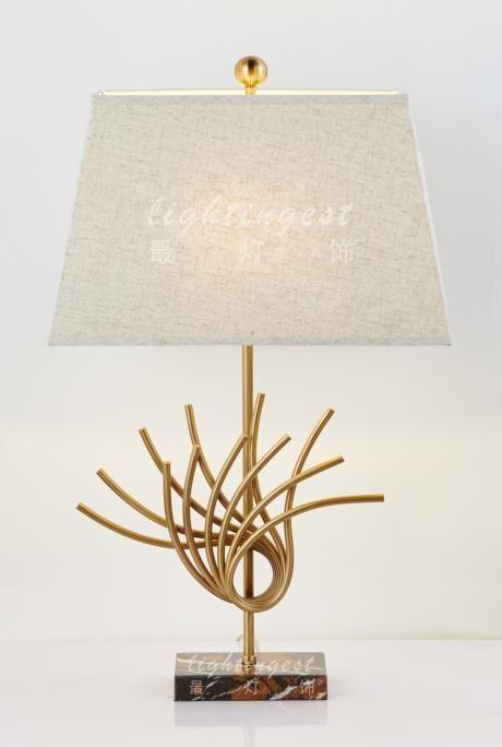 最灯饰美式地中海铜石头创意装饰台灯