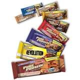 Pure Protein Bar....My fav. Under 200 Calories, under 20 carbs, and 20 grams protein. I like the mini sized bars.....90 to 100 calories.
