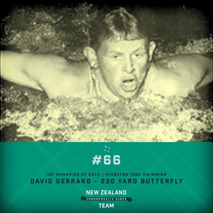 Golden Memory #66. David Gerrard won the 220 yard butterfly competition at the 1966 Commonwealth Games in Kingston. #makingusproud